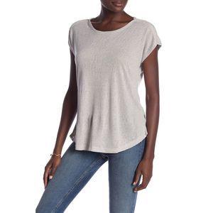 Bobeau Cap Sleeve Boxy T-Shirt XL